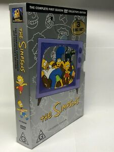 The Simpsons - Complete First Season - 3 DVD Box Set - AusPost with Tracking