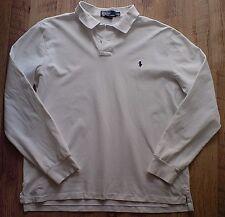 Ralph Lauren Bianco Custom Fit L/S POLO SHIRT XL