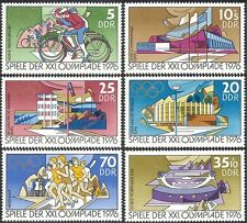 Germany 1976 Olympic Games/Olympics/Sports/Cycling/Bikes/Stadium 6v set (n43560)