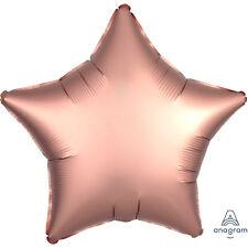 5 X doré rose forme d'étoile Ballons Fête Décoration - SATIN LUXE finir