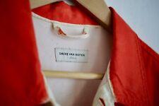 DRIES VAN NOTEN archive runway spring 2012 orange painted white denim jacket