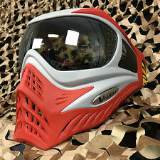 New V-Force Grill Thermal Anti-Fog Paintball Mask Goggle - Se Silver/Red