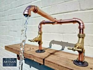 Copper Pipe Swivel Mixer Faucet Taps - Rustic / Vintage / Industrial