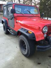 "Black 6"" Wide Pocket Style Fender Flares Jeep CJ7"