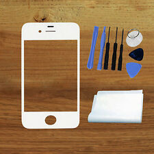 New White For iPhone 4S Replacment Outer Glass Front Cover Lens Repair Parts+Too