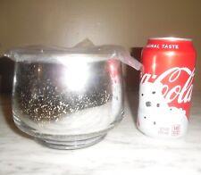 "West Elm 2 wick Candle Winter Scent Metallic Glass Pot w/Lid 5"" 14.5 oz 66 hours"
