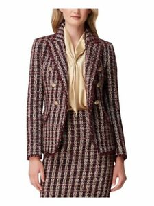 NEW Tahari ASL Women's Double Breasted Jacket Wine Size 8 10 12 14 NWT