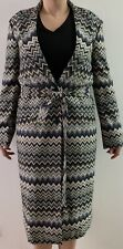 NWT Authentic MISSONI Belted Multicolor ZigZag Trench Coat Size IT40 ( M) $2950