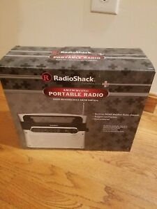 Radio Shack Portable Analog AM FM WX Weather Radio 1200889 AC/DC w/Power Cord