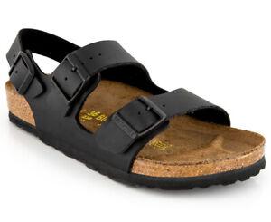 Birkenstock Milano Regular Fit Sandals - Black     AG511