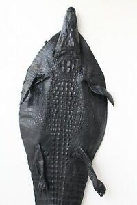 Black Genuine Real Alligator Crocodile Leather -Hide Exotic Pelt Taxidermy