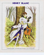PUBLICITE ADVERTISING 094 1975 HENRY BLANC plan sur l'Avenir