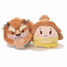 Disney Store Japan Beast & Belle Ufufy Mini Plush Set New with Tags