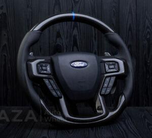 Ford Raptor Steering Wheel Shelby F150 F250  Custom Carbon Fiber 2016-2020