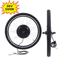"36V 500W Electric Bicycle Cycle 26"" Front Wheel Ebike Hub Motor Conversion Kit"