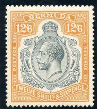 Bermuda 1932 KGV 12s 6d grey & orange (CH) MLH. SG 93. Sc 97.
