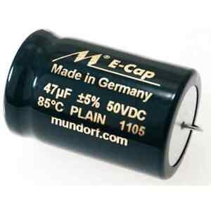 Mundorf ECap AC PLAIN Aluminium-Elektrolytkondensatoren glatt