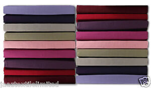 """200 Thread Count 100% Egyptian Cotton Dyed Fitted Bed Sheets Box Depth 9"""" = 23cm"""