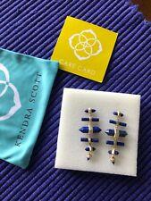 Kendra Scott Discontinued Beautiful Drop Earrings in Lapis Blue -- Gold Tone