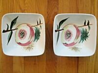 PAIR OF MID CENTURY MODERN VINTAGE HAND-PAINTED JAPAN BERRY BOWLS