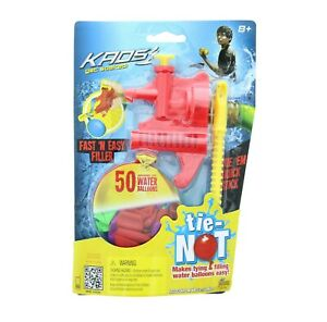 Tie-Not Water Balloon Filling Set, Biodegradable, Includes 50 Balloons, Age 8+