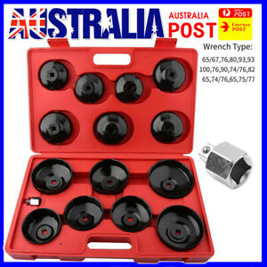 15PCS Universal Oil Filter Wrench Set Metal Cap Socket Removal Tool Kit fh