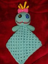 Baby lovey security blanket crochet scrump lilo stitch handmade toy lovie plush