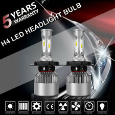Pair H4 9003 CREE LED 20000LM 200W Headlight Kit Bulbs For Honda Civic Fit 6500K