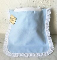 Crafter's Pride Baby Bib Counted Cross Stitch 14 Count Aida - Blue/White Eyelet