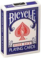 Bicycle Poker Size Standard Index Playing Cards (2-Pack), Red, Blue or Black