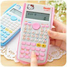 1Pcs Hello Kitty 10+2 digits Function LCD Scientific Calculator