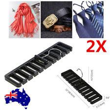 2pcs Closet Storage Rack Tie Belt Scarf Organizer Hanger Holder Rack Black