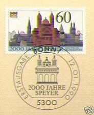 BRD 1990: Speyer 2000 Jahre! Nr. 1444 mit dem Bonner Ersttags-Sonderstempel! 1A