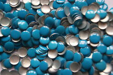 50 Clous Thermocollant Rond 6mm Bleu Turquoise #6110#