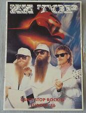 Carte Postale Postcard - ZZ TOP - Can't Stop Rockin' Europe 86