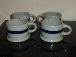 DANSK BLT BLUE COFFEE MUGS SET OF 4 MADE IN JAPAN