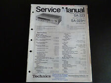 Original Service Manual  Technics FM/AM Stereo Receiver SA-323 SA-323K