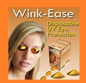 Wink-Ease Disposable Stick on SunBed Tanning Eye Protection Goggles 60 Pairs