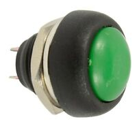 GREEN WATERPROOF PUSH SWITCH - BUTTON - NORMALLY OPEN - SPST - FOR 13MM HOLE