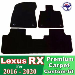 PREMIUM Prestige Carpet Car Floor Mats for Lexus RX 2016 - 2020 RX350 RX450h