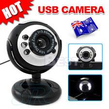 OZ Camera+Mic+6 LED Lights 16 megapixel MP USB Webcam for Skype Laptop PC Mac