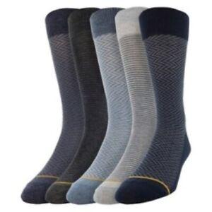 Signature Collection GoldToe Mens Aquafx Crew Socks 5 Pack Shoe Size 6-12.5