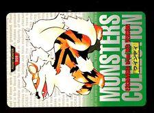 POKEMON BANDAI 1996 GREEN MONSTERS COLLECTION N°   59 ARCANINE ARCANIN