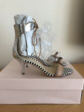 Brand New Silver/Tan Ankle Strap Sandals By Loeffler Randall, Size 4, Boxed