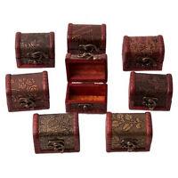 1PC Wooden Vintage Treasure Chest Jewellery Storage Box Case Organiser Ring Best