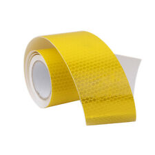 """3M Self Adhesive Reflective Tape 2"""" Wide Safety Conspicuity Yellow Stickers"""