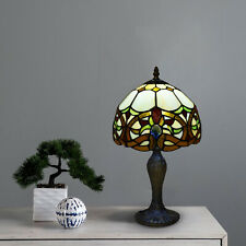 Tiffany Style Table Lamp Stained Glass Handcrafted Bedside Light Desk Lamps UK.