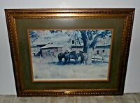 1968 Western Art AFTERNOON IN NEW MEXICO Litho Print James Boren Signed & Framed