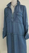 BNWT STUNNING ZARA WOMAN DENIM BELL SLEEVE SHORT TUNIC DRESS SHIRT, XS $69.00