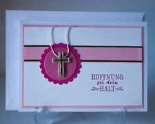 Glückwunschkarten zur Kommunion für Mädchen Konfirmation Taufe Handarbeit 3d